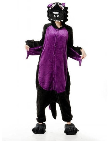 Black Dragon Onesie for Adults