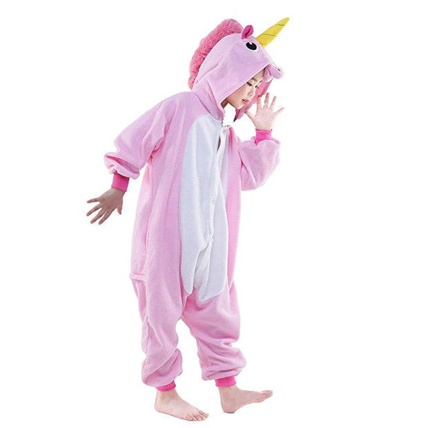 Kids Pink Pony Unicorn Onesie