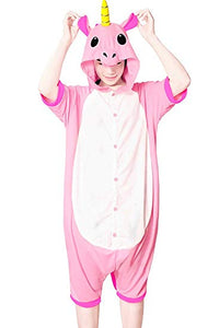 Pink Unicorn Short Sleeve Onesie for Adults