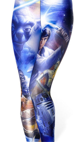 Star Wars Leggings for Women - Blue