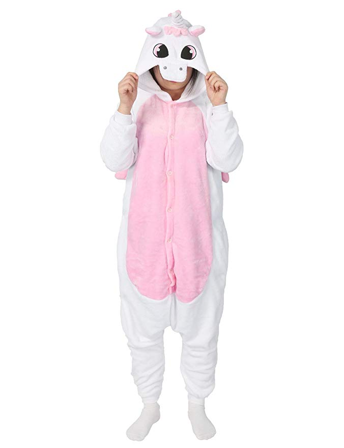 White & Pink Unicorn Onesie