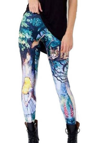 Alice in Wonderland Leggings - One Size Fits All