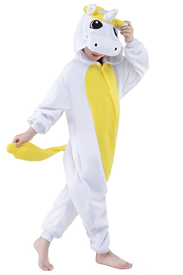 Kids Yellow Unicorn Onesie