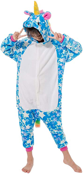 Blue Stars Unicorn Onesie for Kids