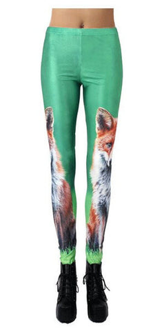 Fox Leggings  - One Size Fits All