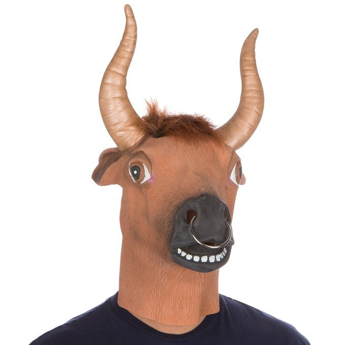 Bull Ring Mask Animal Adult Size - Unicorn Onesies