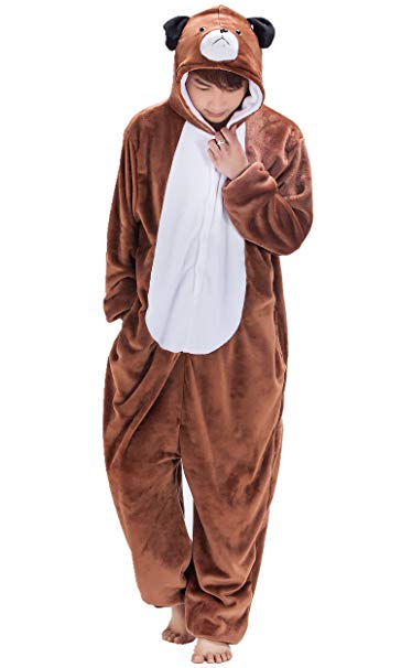 Brown Dog Onesie for Adults