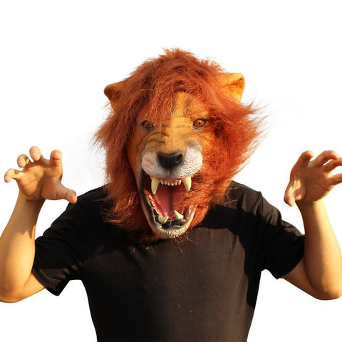 Lion Mask Animal Adult Size