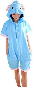 Blue Elephant Short Sleeve Onesie for Adults