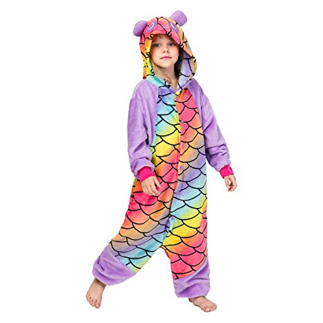 Mermaid Panda Onesie for Kids