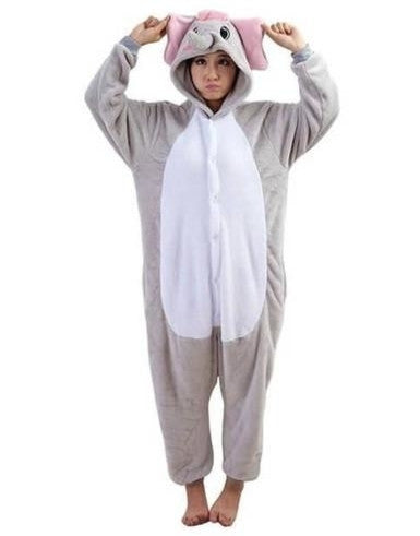 Grey Elephant Onesie for Adults