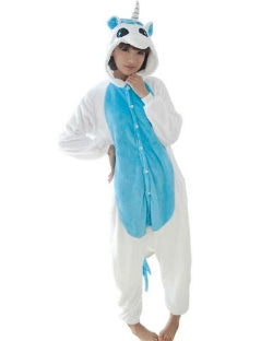 White & Blue Unicorn Onesie