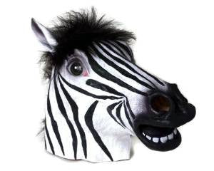 Zebra Mask Animal Adult Size - Unicorn Onesies
