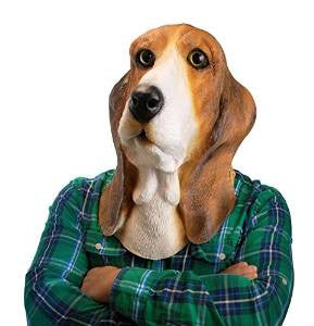 Basset Hound Dog Mask Animal Adult Size