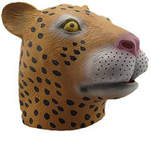 Leopard Mask Animal Adult Size