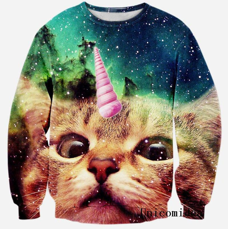 Cat Unicorn 3D Printed Sweatshirt - Unicorn Onesies