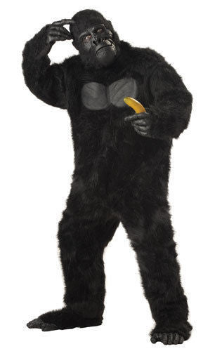 Black Gorilla Monkey Ape Adult Halloween Costume - Unicorn Onesies