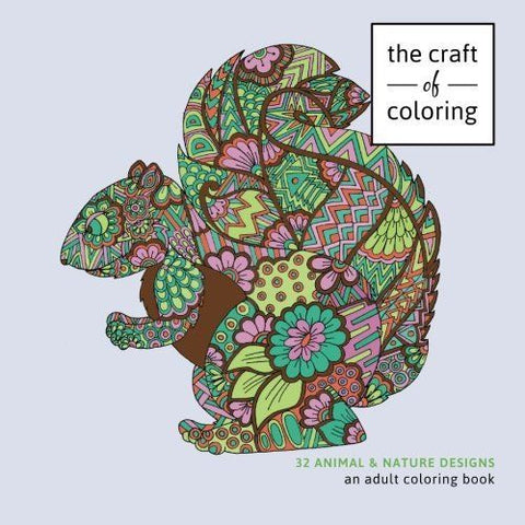 Coloring Books For Grown-Ups 32 Animals Nature Designs Stress Relieving