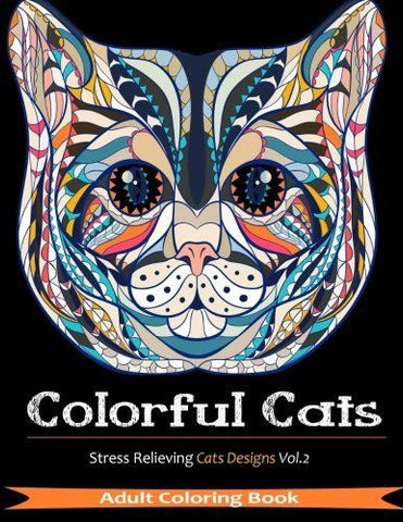 Coloring Books For grown ups 33 Designs Cats Stress Relieving