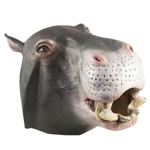 Hippo Latex Animal Mask - Unicorn Onesies