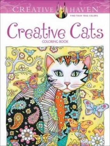 Coloring Books For Grown-Ups Creative Cats Stress Relieving