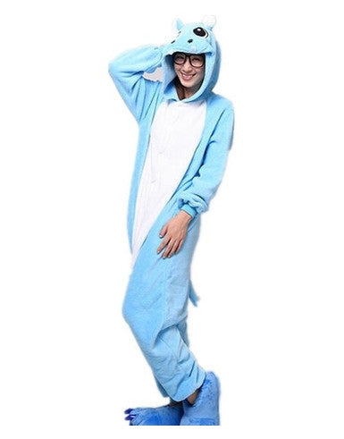 Blue Hippo Onesie for Adults