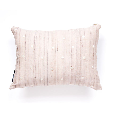 Set of Two Raw Silk + Vegan Leather Solid Pillows