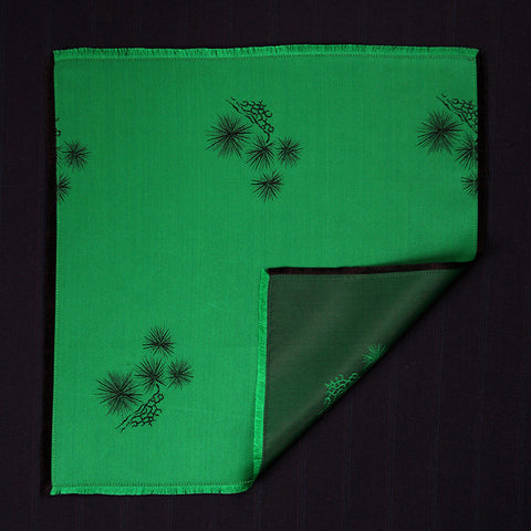 Pocket Square - Emerald Spruce Silk (Double Sided)