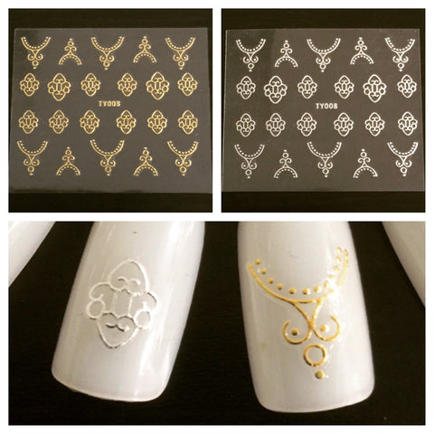 Scroll Art Nail Decals