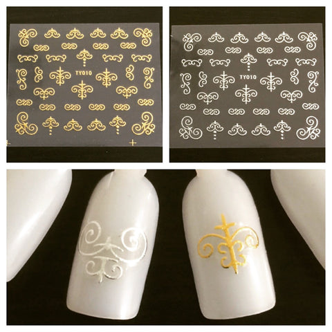 Scroll Art 2 Nail Decals