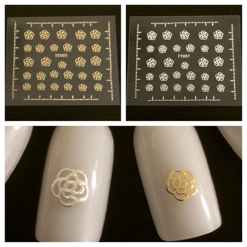 Rose Nail Decals