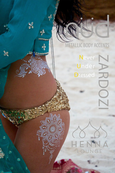 ZARDOZI by Henna Lounge - Silver Edition