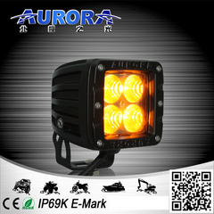 "2"" CUBE - FLOOD BEAM - AMBER - 12 WATT - 1580 LUMENS"
