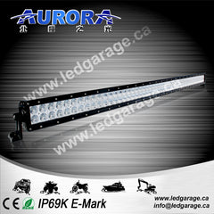 "50"" Dual Row, 300 watts, 24000 lumens, spot/flood combination"