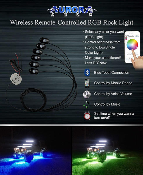BLUETOOTH ROCK LIGHT KITS