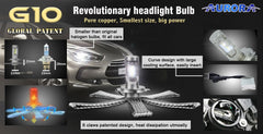 AURORA G10 8000 LUMENS LED HEADLIGHT KIT WITH BUILD IN CANBUS