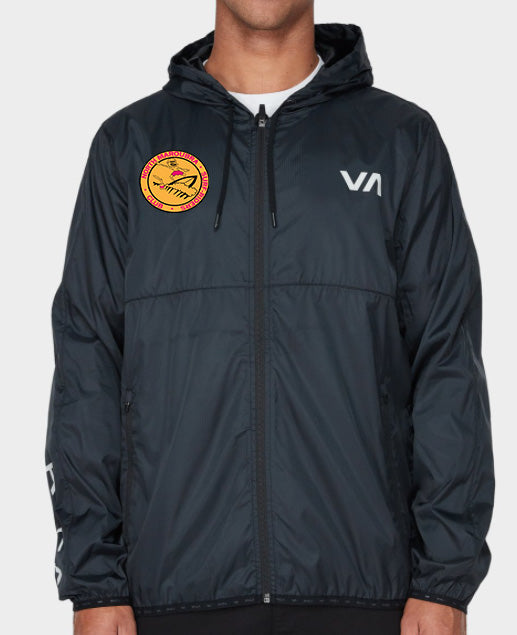 NMSR x RVCA Black Spray Jacket 2020