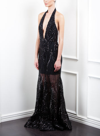 SOLD OUT Stardust Halter Gown