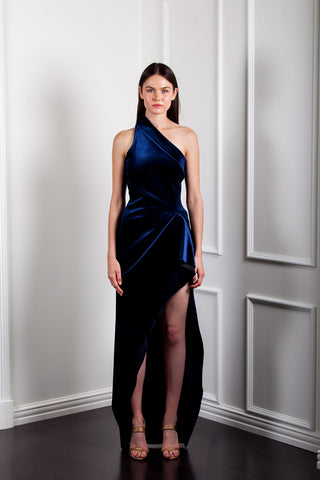 AE948 ONE SHOULDER SCULPTURED DRESS