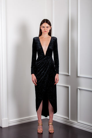 AE921 MOONLIGHT WRAP DRESS