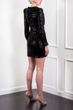 Velvet Sequin Tuxedo Dress