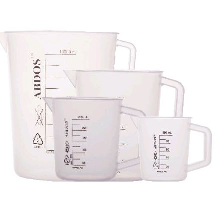 Beakers with Handle, PP & TPX