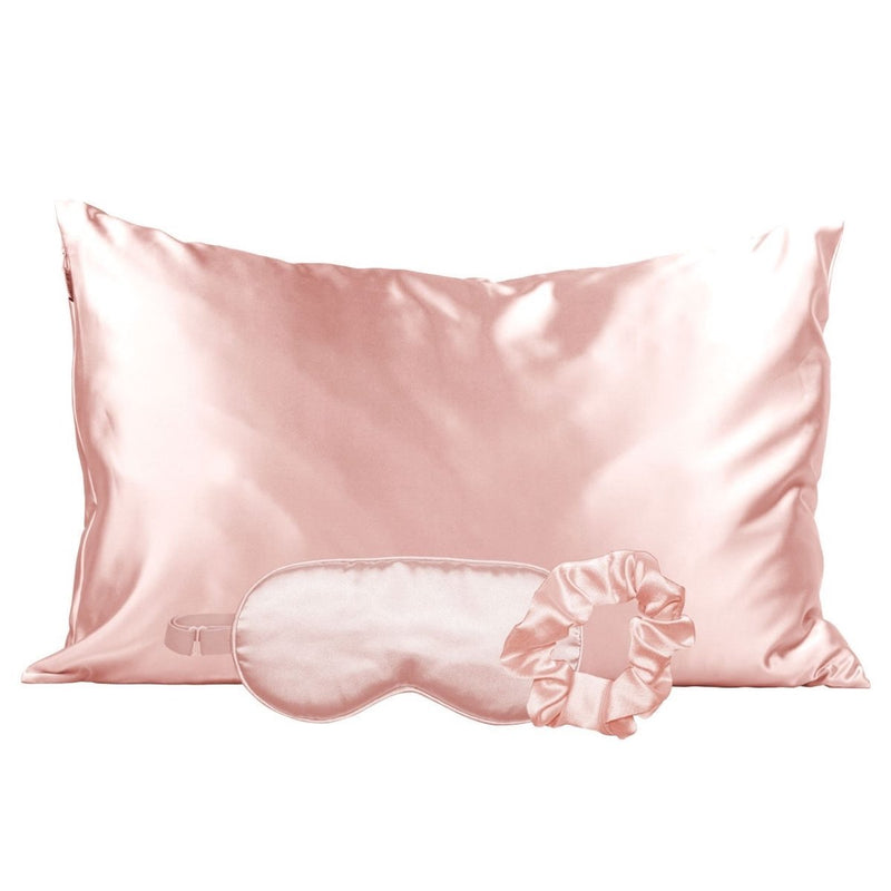 Satin Sleep Set - Blush - DR WIMA BEAUTY