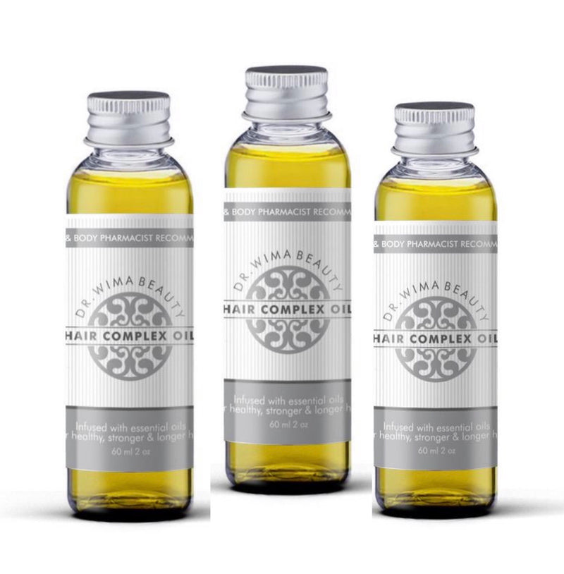VALUE SET OF 3 X REFILL HAIR COMPLEX OILS IN PLASTIC - Dr. WIMA BEAUTY