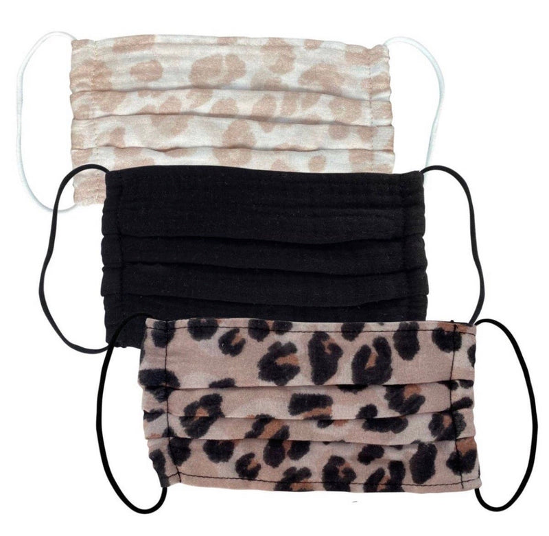 Reusable Cotton Face Masks - Leopard - Dr. WIMA BEAUTY