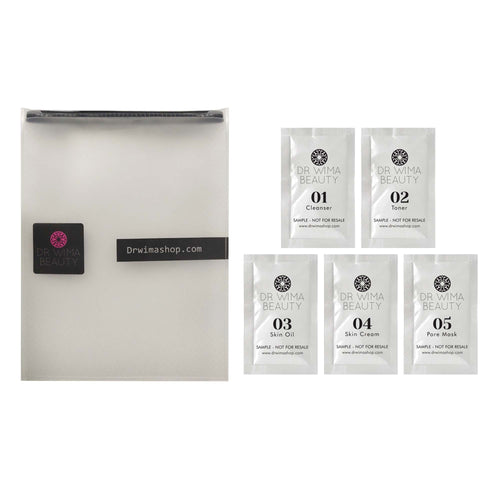 SKIN SAMPLE SET w/ TSA TRAVEL BAG - Dr. WIMA BEAUTY