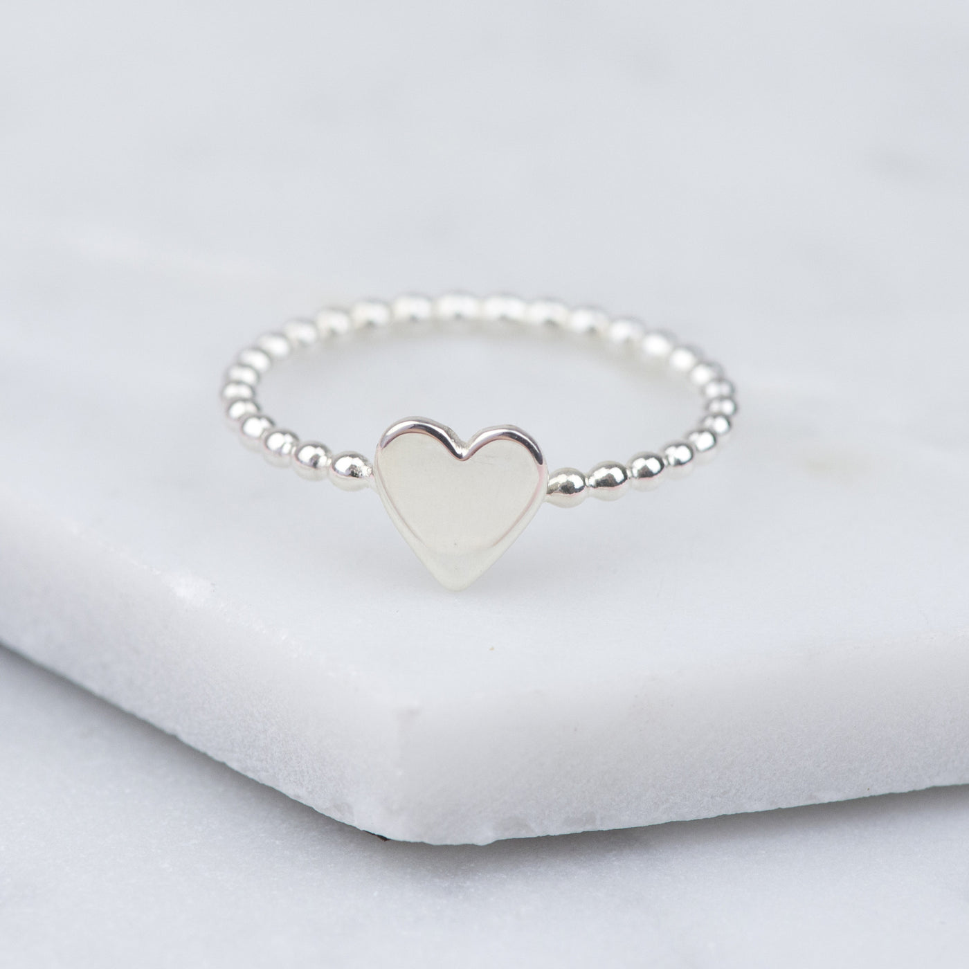 JOY - HANDMADE STERLING SILVER HEART RING