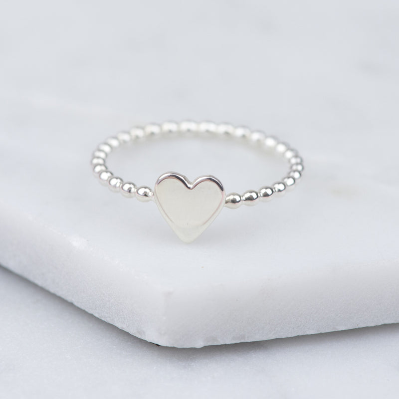 Handmade Sterling Silver Heart Ring