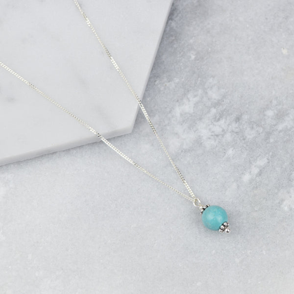MIRA - HANDMADE STERLING SILVER TURQUOISE NECKLACE