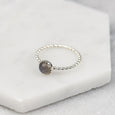Labradorite - Handmade Sterling Silver Gemstone Stacking Ring